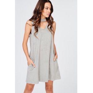 WISHLIST | Faux Suede Trapeze Dress Choker Size S